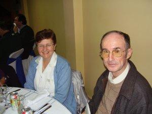 P. Antonio y la Misionera Seglar Giugliana, presentes para acompañar al hermano scalabriniano