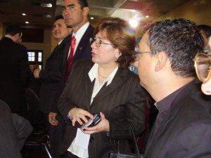 El P. Miguel y la Lic. Trillo, organizadores junto con el Diputado Andrés del evento