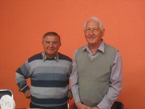 Padre Luis de Italia y Padre Joao de Brasil.