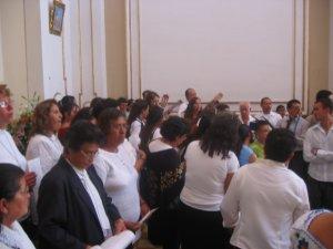 El Coro que con sus cantos acompañó la Santa Eucaristía...