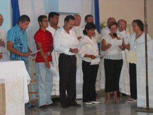 En las peticiones pedimos por el Papa, los Misioneros, los Migrantes, por las vocaciones, por el Padre Manuel y por todos los presentes.