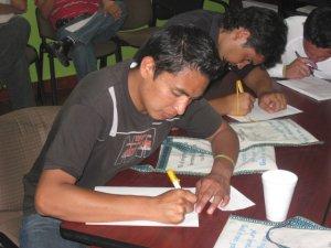 Momentos decisivos... eleción y entrega de cartas para ser aceptados.....