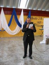 El Padre Miguel, Rector del Seminario Juan Bautista Scalabrini de México, D.F., dio la bienvenida...