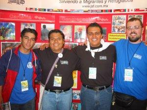 Un joven de Tlaxco, Tlax, José Juan, Fernando y Mateo.