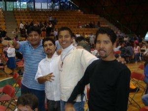 Seminaristas de Guadalajara y Cd. de México participando en el evento