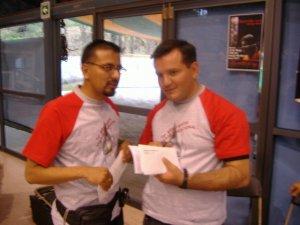 P. Fernando (Scalabriniano) y P. Erick (Misionero de Guadalupe) dos de los organizadores del evento