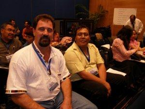 P. Ademar, scalabriniano director de la Casa del Migrante de Tecun Human, Guatemala  y P. Fausto, dos misioneros al servicio del migrante