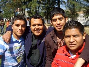 Compañeros de camino Humberto, Acosta, Marcos y Rodolfo.