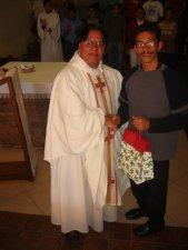 """Finalizando la Misa dimos nuestro """"GRACIAS"""" sincero a los Seminaristas por su servicio.<br /> Gerardo de Tuxpan, Mich.: Seminarista del Año Introductorio."""