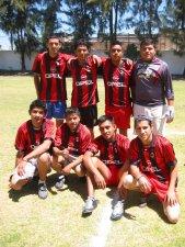 Equipo del Milan. Nuestro ganador en el torneo de futbol. Felicidades!<br />