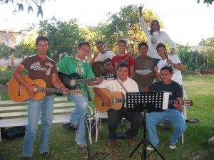 El Coro que animó en las  Misas realizadas durante la convivencia