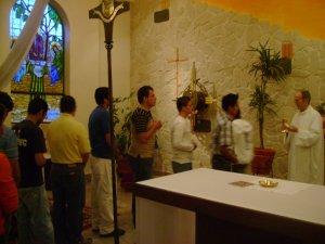 la Eucaristia fue nuestro alimento, nuestra fuerza en nuestra busqueda...
