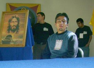 nos armamos de valor para enfrentar a Cristo, para preguntarle que quiere de nosotros, aquí Felipe de Miahuatlan, dando su testimonio sobre Jesús.