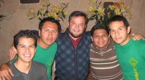 El equipo Vocacional que asesoró nuestra convivencia los seminaristas Germán, Hugo, P. Fer, Allen y Rodolfo