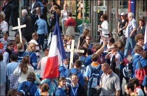 La Delegación de Francia, una de las mas numerosas