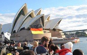 La espera de la muchedumbre en la Opera House.