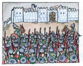 5. Senaquerib, rey de Asiria, un reino que era sumamente poderoso, atacó y sitió Jerusalén. Todo el mundo temía por su vida, porque los soldados asirios eran conocidos por la crueldad con que trataban a sus prisioneros. <br />