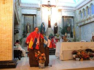 El Padre Antonio Tapparello nos recordó la importancia de nuestra misión Scalabriniana.