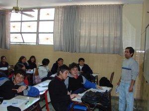 Chicos del Secundario  J.B. Scalabrini en Mendoza, Argentina.<br /> El JSF,  Héctor (parado), que nos envió las fotos desde Argentina