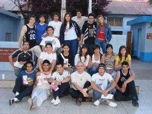 Con los Jóvenes de la Parroquia Madre de los Migrantes.