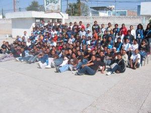 Jóvenes más Servidores de la Pascua Juvenil en la Parroquia de Nuestra Señora de Guadalupe, San Francisco dle Rincón, Gto.