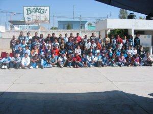 Jóvenes que participaron en la Pascua Juvenil en la Parroquia de Nuestra Señora de Guadalupe, San Francisco dle Rincón, Gto.