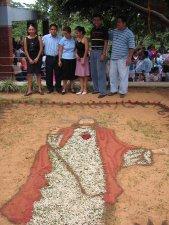 La imagen del Sagrado Corazón, hecha para la fiesta patronal.