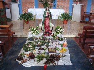 En la Jornada de Oración por el Migrante, la comunidad hizo estas ofrendas.