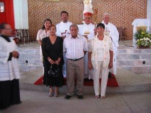 Foto-recuerdo con unos Familiares.