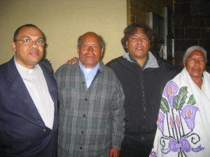 El Padre Nivaldo, Rector de la Teología de San Paulo, Brasil con el Padre Fausto y sus Papás...