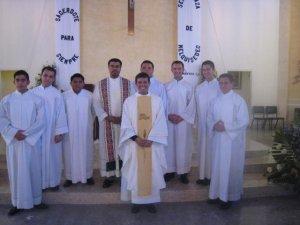Con los seminaristas scalabrinanos que terminaron su etapa propedéutica y ahora irán a Cd. de México para el estudio de la filosofía