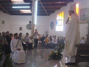 Fue llamado por su superior provincial y luego el Obispo le dirigió algunas palabras de motivación a la vida sacerdotal.