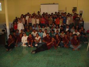 Jóvenes de Pascua Juvenil de la Parroquia de Cristo Rey  en  Estipac, Jal.