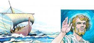 ... lleva en mi barca el timón.