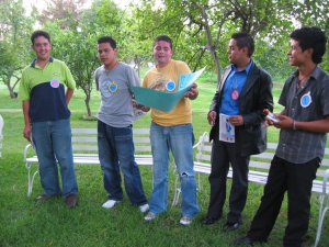 Formamos 5 Equipos para el buen desarrollo de las diferentes actividades.