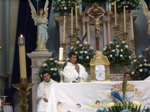 P. Juan Luis se mostró agradecido con Dios y con todos los suyos.