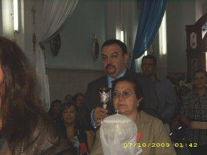 Su familia, parientes y amigos se hicieron presentes en la Misa de Acción de Gracias.