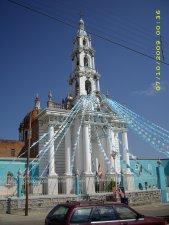 Iglesia de la virgen del Rosario en Husquilco, Municipio de Yahualica, Jalisco.
