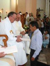 Oscar hace su Primera Profesión Religiosa.<br /> ... para lograr, con la gracia del Espíritu Santo y la ayuda de la Bienaventurada Virgen María...