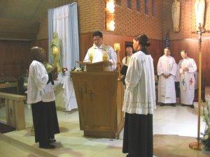 El Padre Chan, en la Proclamación del Evangelio.