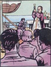 En tanto entusiasmado por el Papa León XIII, se embarcó para visitar a los migrantes y a los misioneros de los  Estados Unidos.