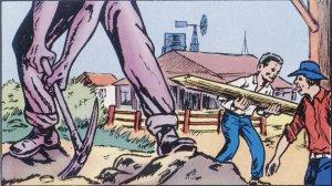 Ahí, mientras construían sus casas, hubo pleitos con la gente del lugar.
