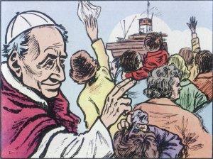 En 1887 Mons. Scalabrini obtuvo la bendición de Papa León XIII para iniciar una Congregación de Misioneros, que atendieran a los migrantes.