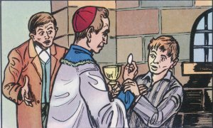 """Visitaba a los presos. Un día, mientras repartía la Comunión, un detenido gritó: """"Señor, tú sabes que soy inocente"""". Scalabrini, impresionado, logró que se revisara el proceso y el preso quedó libre."""