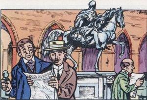 """La prensa católica recibió de él un fuerte impulso. Transformó el pequeño semanario """"El Amigo del Pueblo"""", en un diario vivaz y de punta."""