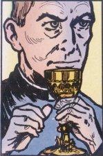 ...y no teniendo más que dar, vendió el precioso caliz de oro, regalo del Papa Pío IX, para transformarlo en comida.