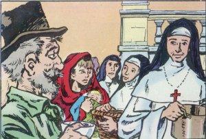 El hambre comenzó a azotar a la gente, que se dirigió a la ciudad. El Obiospo transformó en cocina la planta baja de su casa episcopal, donde por muchas semanas se repartieron hasta cuatro mil comidas diarias.