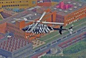 Libertad total en 3 dimensiones (Bell 407 sobre Televisa Santa Fe)