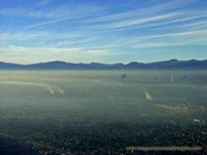 La mayor parte de la contaminacion viene del norte del area metropolitana.