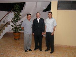 Con Marco y Martín de tercero de Filosofía,